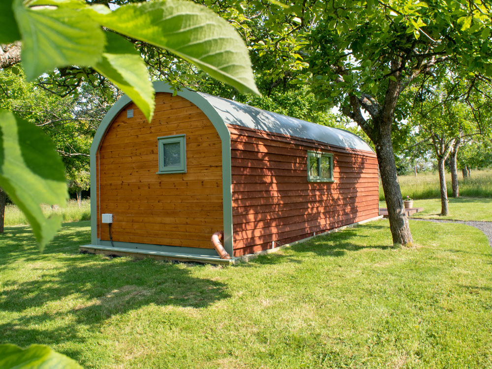Glamping Pod Outside View