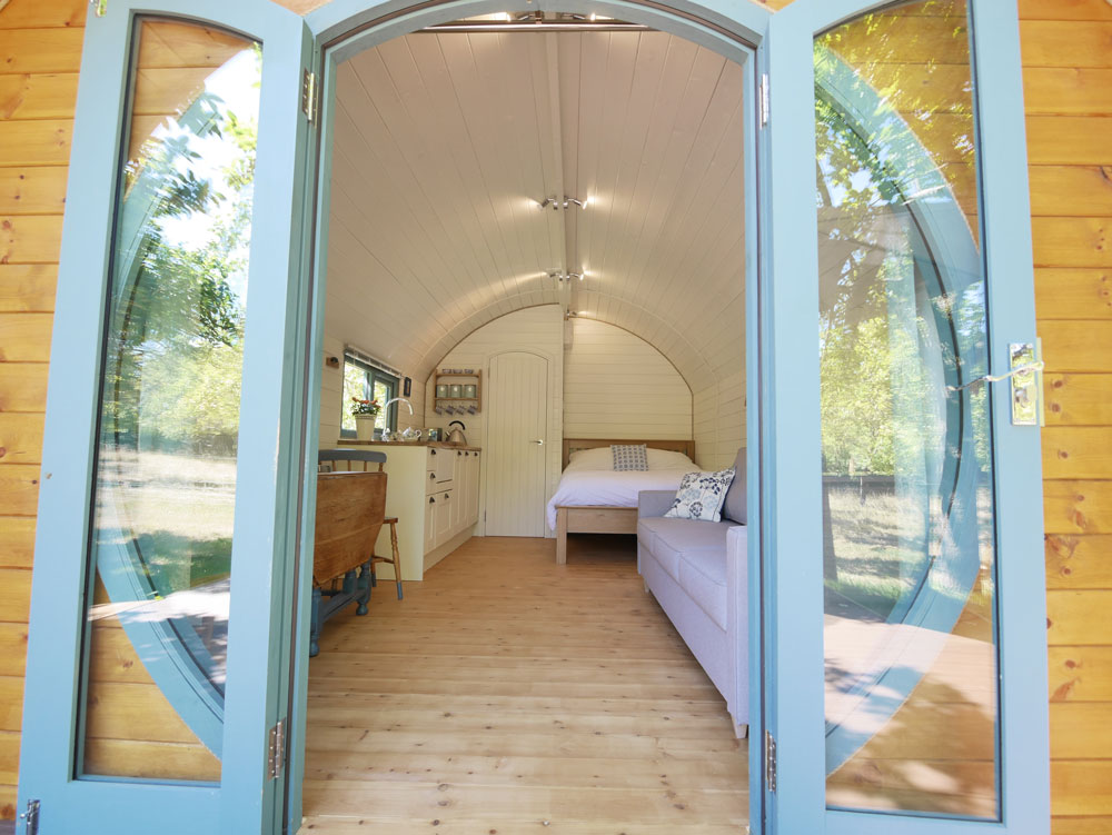 Glamping Pod Looking In
